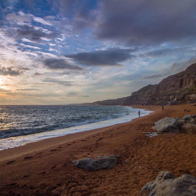 """Blackgang Beach Isle of Wight"" stock image"