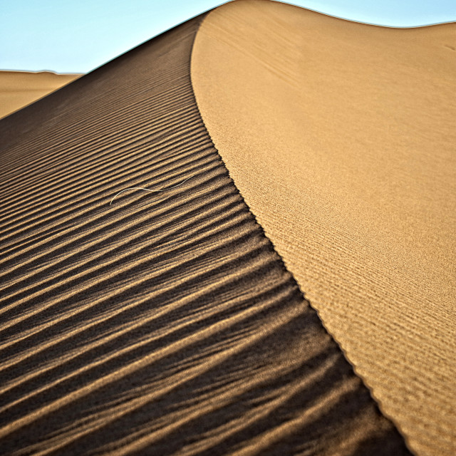 """Perfect dune - Sahara Desert"" stock image"