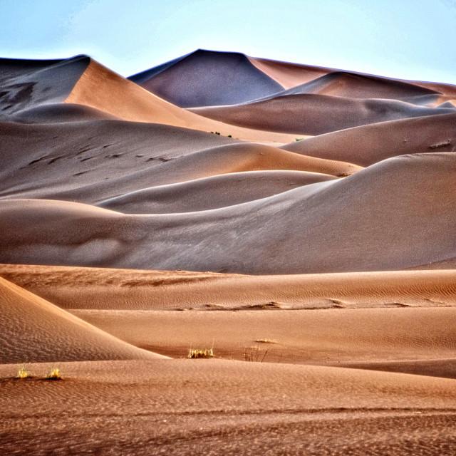 """Sahara Desert dawn #06"" stock image"