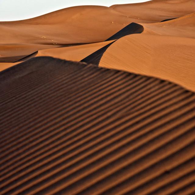 """Sahara Desert dawn #07"" stock image"