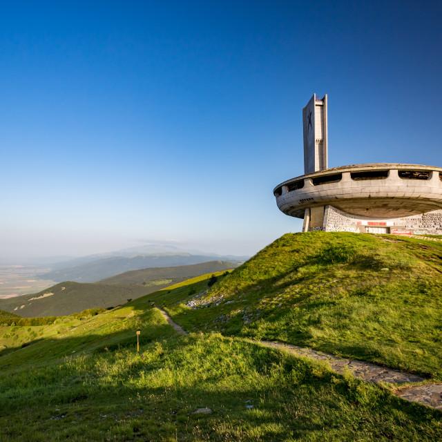 """""""Abandoned communist monument, Buzludzha, Bulgaria"""" stock image"""