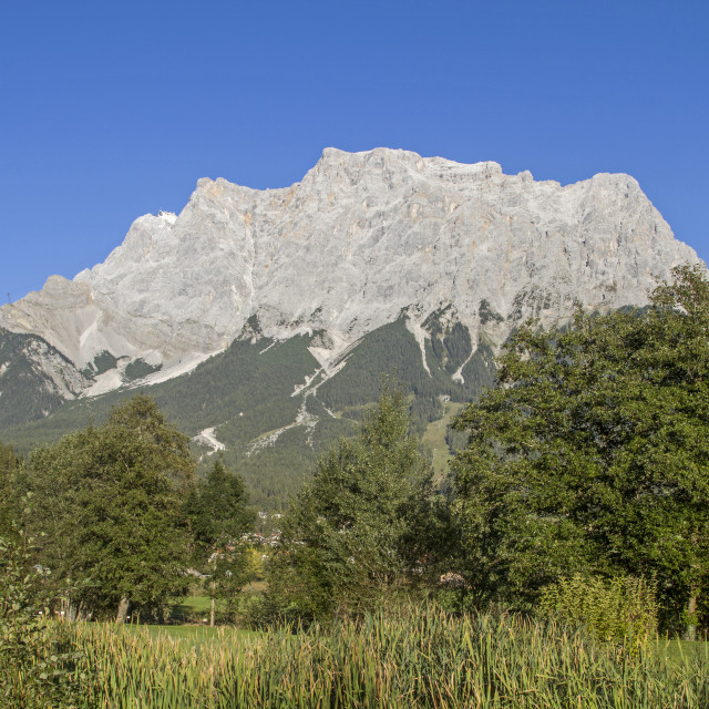 """Zugspitze - view from Tyrol"" stock image"