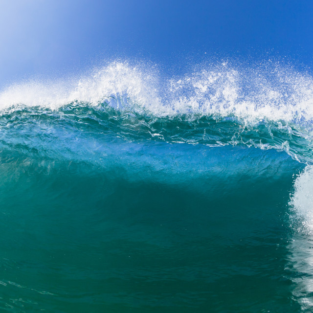 """Wave Blue Water Lip Close Up"" stock image"