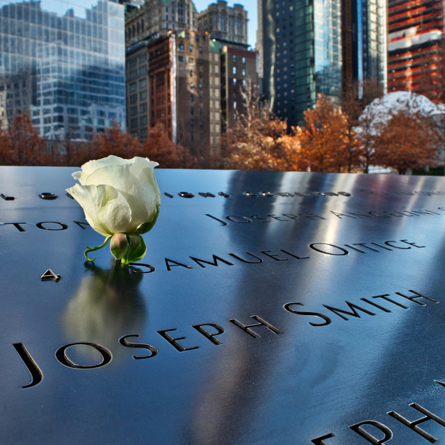 """The 9/11 Memorial"" stock image"