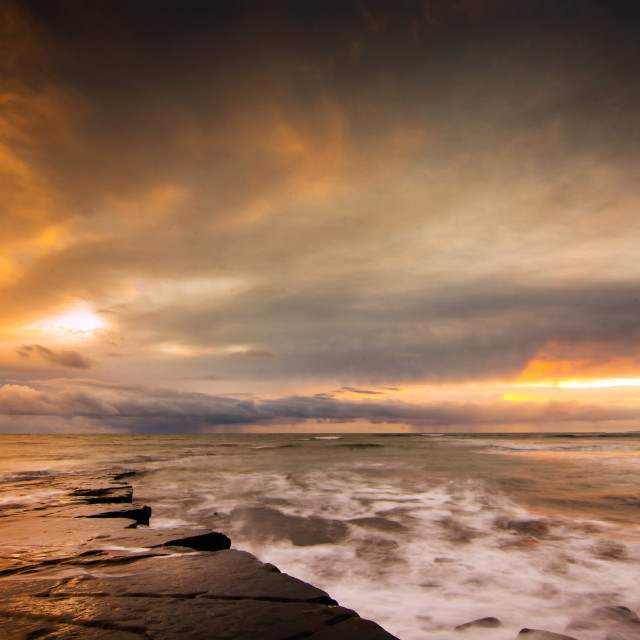 """Kimmeridge Sunset"" stock image"
