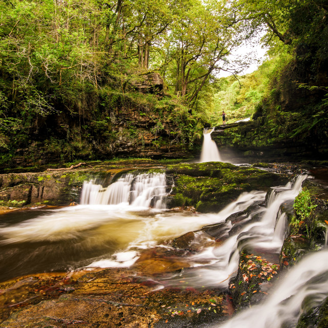 """The Waterfalls of Wales"" stock image"