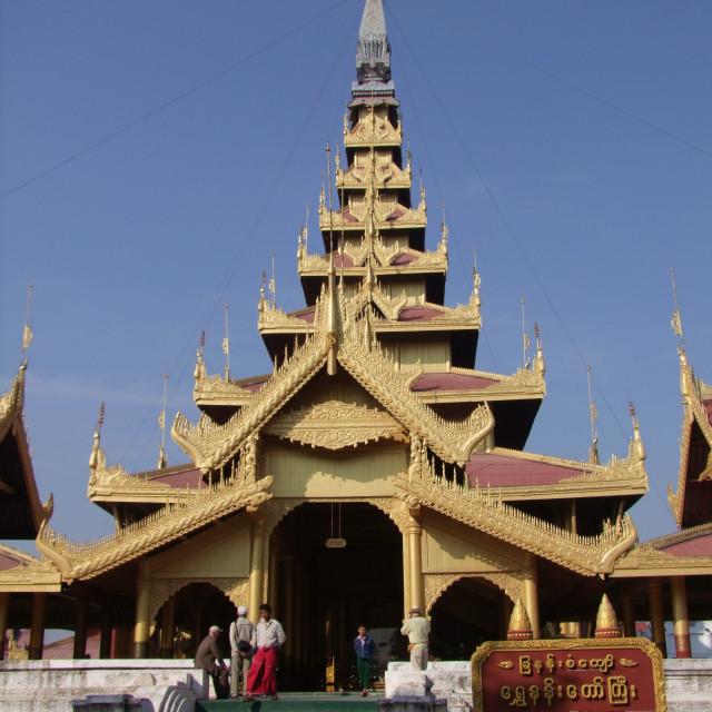 """""""Entrance, Mya Nan Son Kyaw Palace, Myanmar"""" stock image"""
