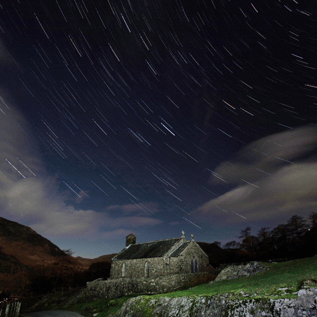 """Stars above St. James"" stock image"