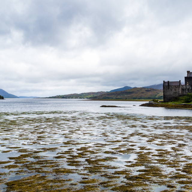 """Castle at the Water's Edge"" stock image"