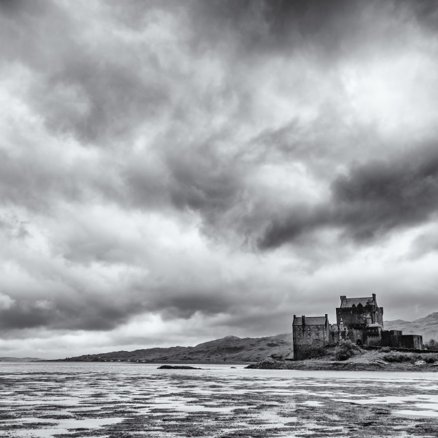 """Storm Clouds Over the Castle"" stock image"