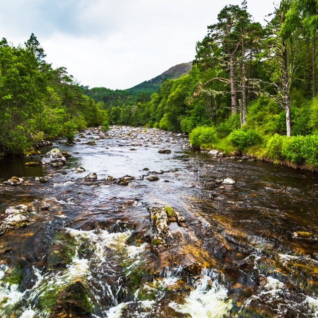 """The River Affric"" stock image"