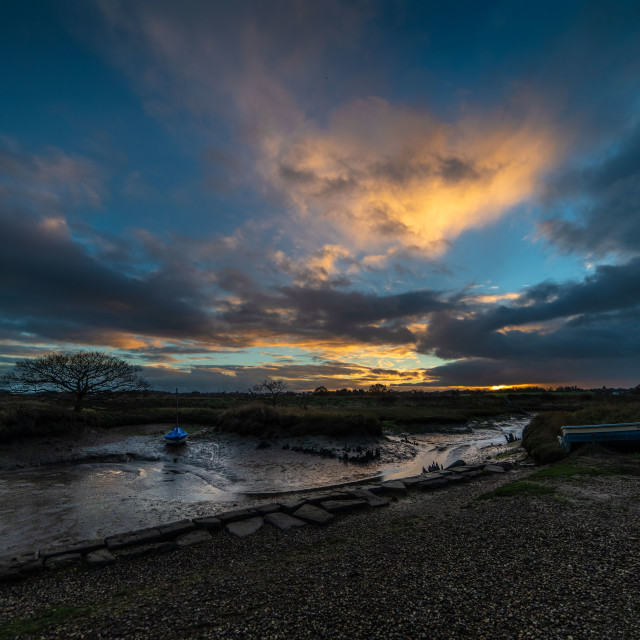 """Beaumont Quay Winter Sunset"" stock image"