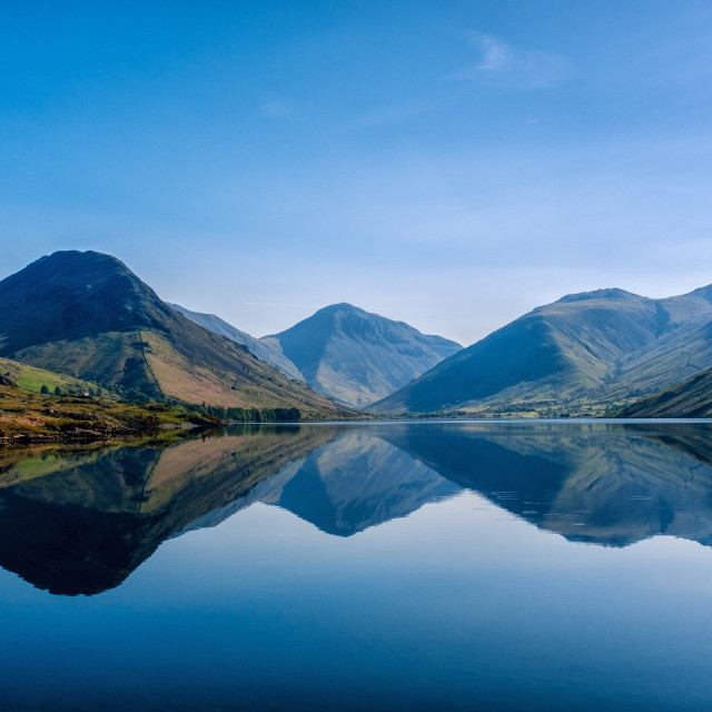 """Tranquility, Wastwater"" stock image"