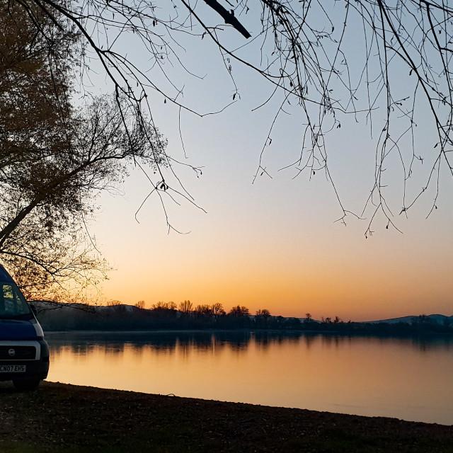 """""""Danube campervan"""" stock image"""