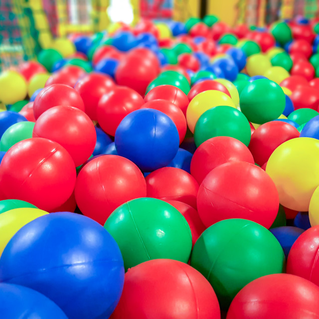 """""""Colorful ball pit"""" stock image"""