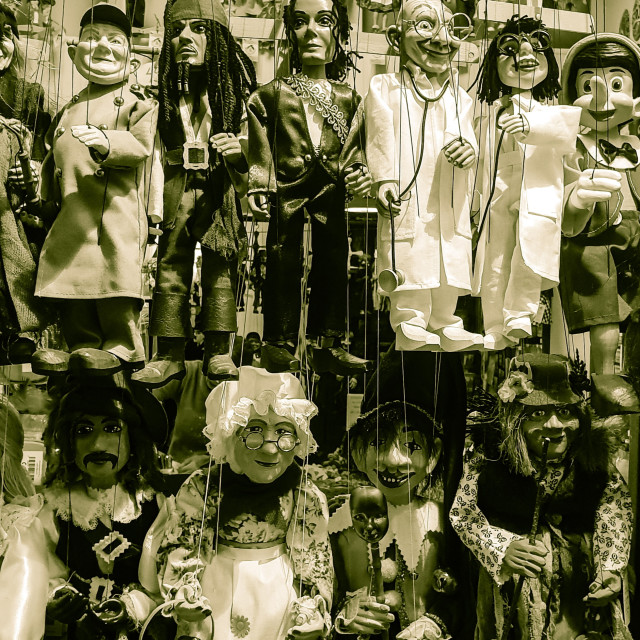 """""""Scary puppets"""" stock image"""