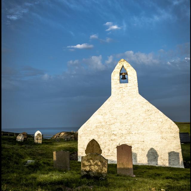 """Mwnt chapel,"" stock image"