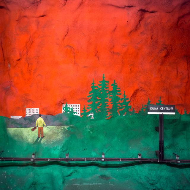 """Stockholms Tunnelbana - Solna Centrum"" stock image"