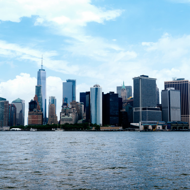 """""""Skyline of Downtown of Manhattan in New York"""" stock image"""