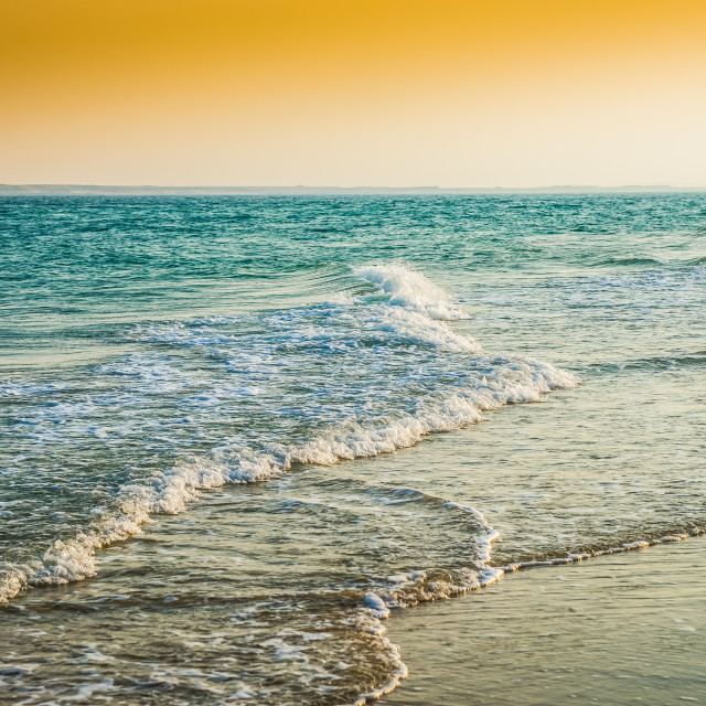 """""""Inland Sea and Sand Dunes"""" stock image"""