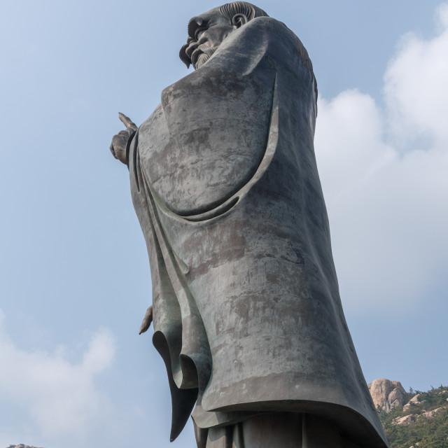 """Statue of Lao Tze at Laoshan near Qingdao"" stock image"