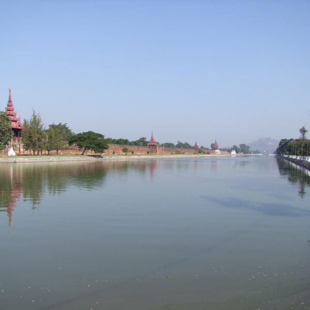 """""""Mandalay Royal Palace Walls & Moat"""" stock image"""
