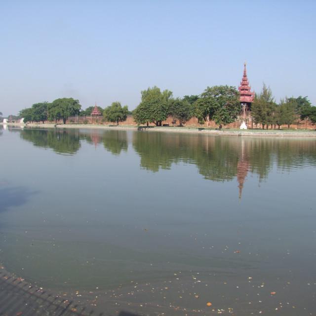 """""""Royal Palace Walls & Moat, Mandalay"""" stock image"""