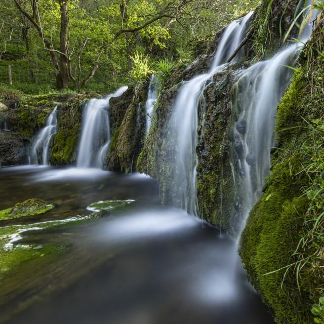 """Lathkill Waterfall"" stock image"
