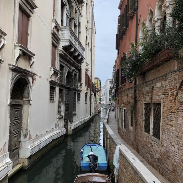 """Venice waterway"" stock image"