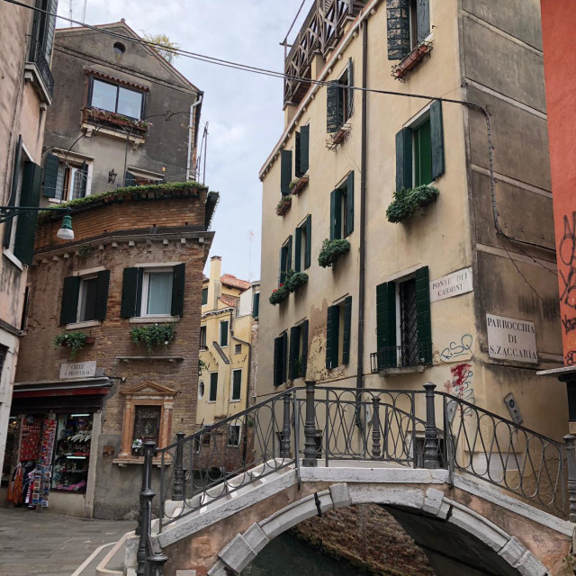 """Venice street and waterway"" stock image"