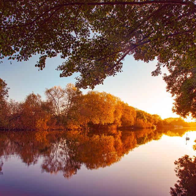 """""""Thames Sunrise"""" stock image"""