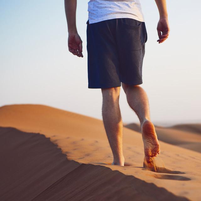 """""""Walk in desert"""" stock image"""