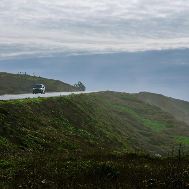 """Morning Drive Down the California Scenic Coastal Highway"" stock image"