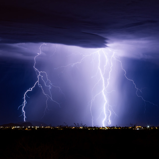 """Lightning bolt storm"" stock image"