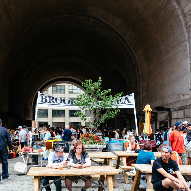 """Brooklyn Flea Market in DUMBO in New York"" stock image"