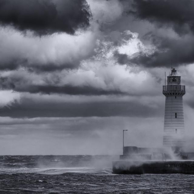 """Donaghadee storm"" stock image"