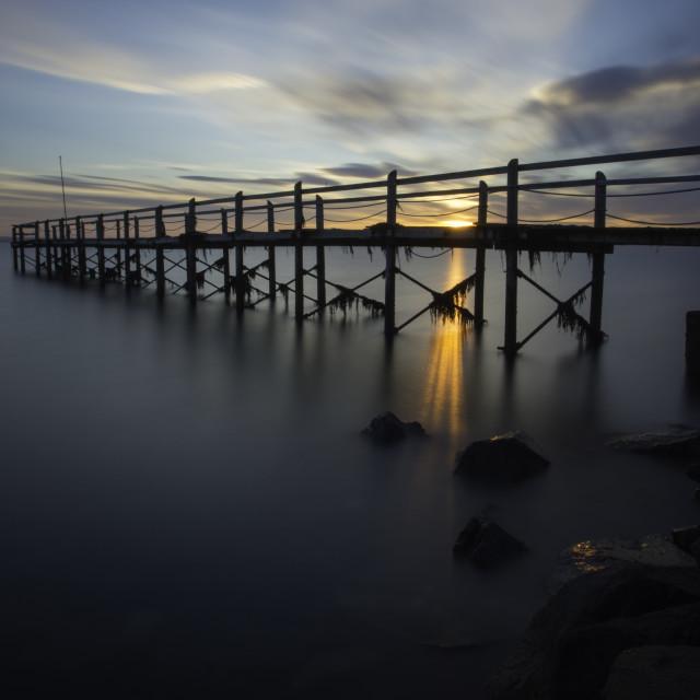 """Ards Yacht Club Pier"" stock image"