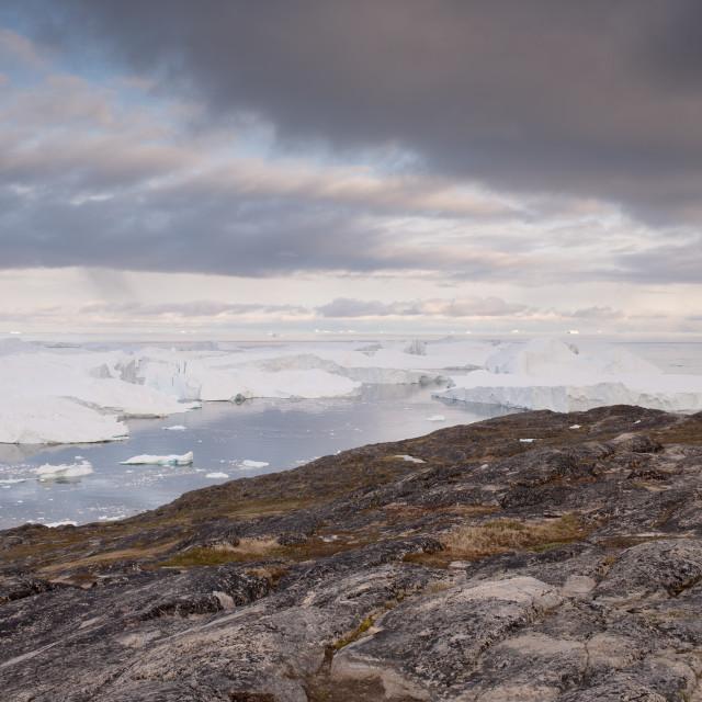"""Landscape in Ilulissat"" stock image"
