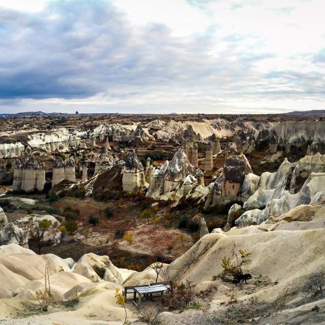 """Beautiful scenery of Cappadocia rocks in Turkey"" stock image"