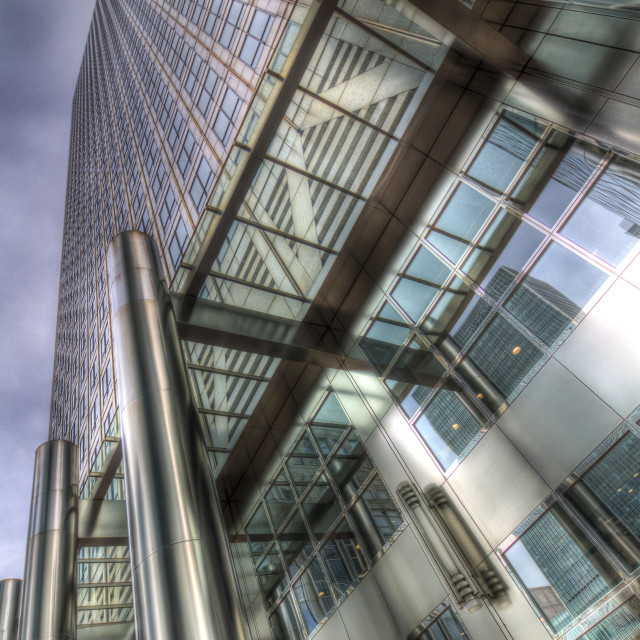"""""""One Canada Square London"""" stock image"""