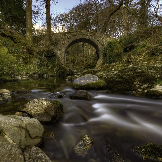 """Foleys Bridge Tullymore"" stock image"