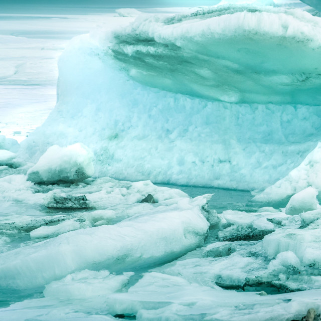 """iceberg - fjallsarlon - iceland"" stock image"