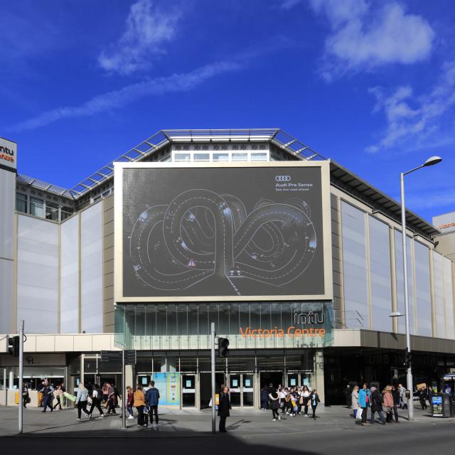 """The Victoria Shopping Centre, Nottingham city centre; Nottinghamshire;..."" stock image"