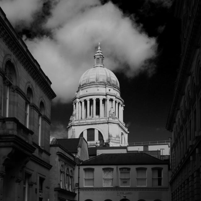 """The Council House building, Nottingham city centre, Nottinghamshire, England, UK"" stock image"