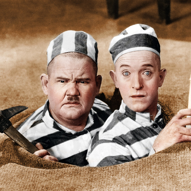 """""""Laurel and Hardy 1927"""" stock image"""
