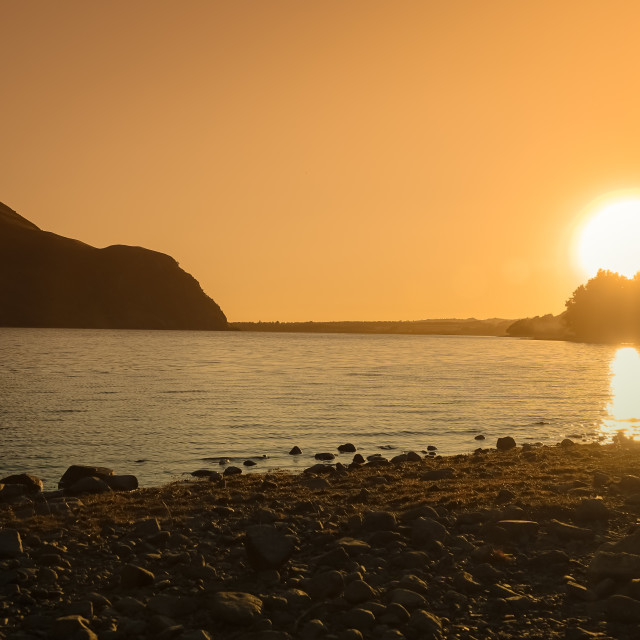 """ENNERDALE SUNSET"" stock image"