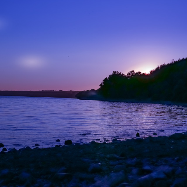 """LAKE TWILIGHT"" stock image"