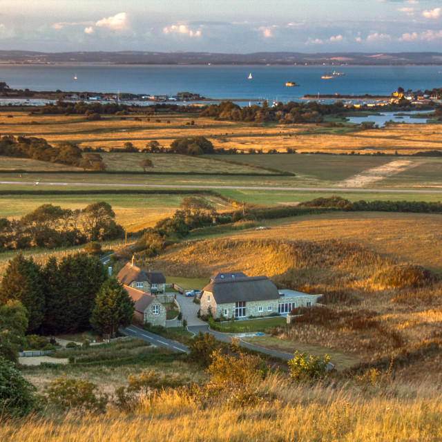 """""""Culver Downs looking towards Portsmouth"""" stock image"""