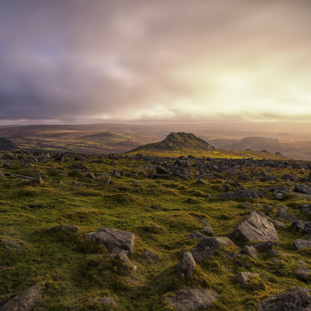 """Tors of South Dartmoor 3"" stock image"