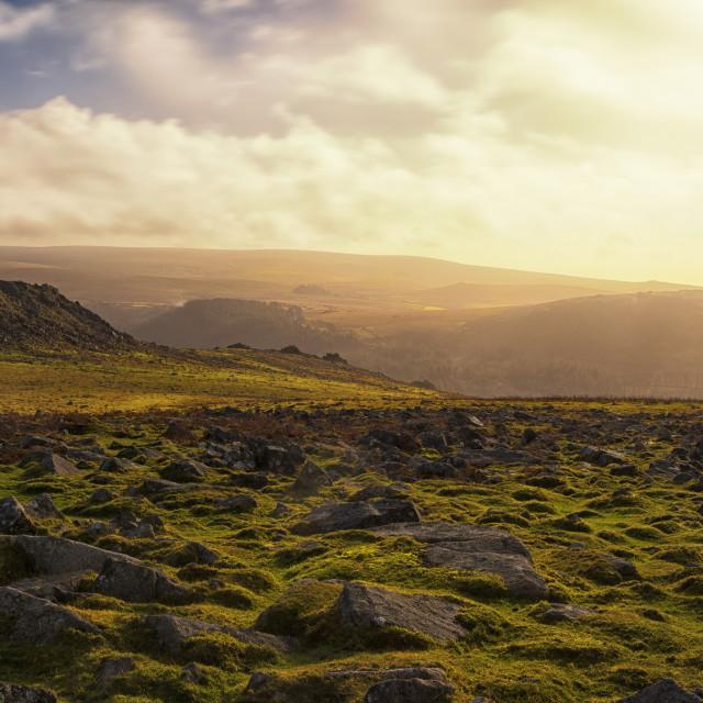 """Tors of South Dartmoor 2"" stock image"